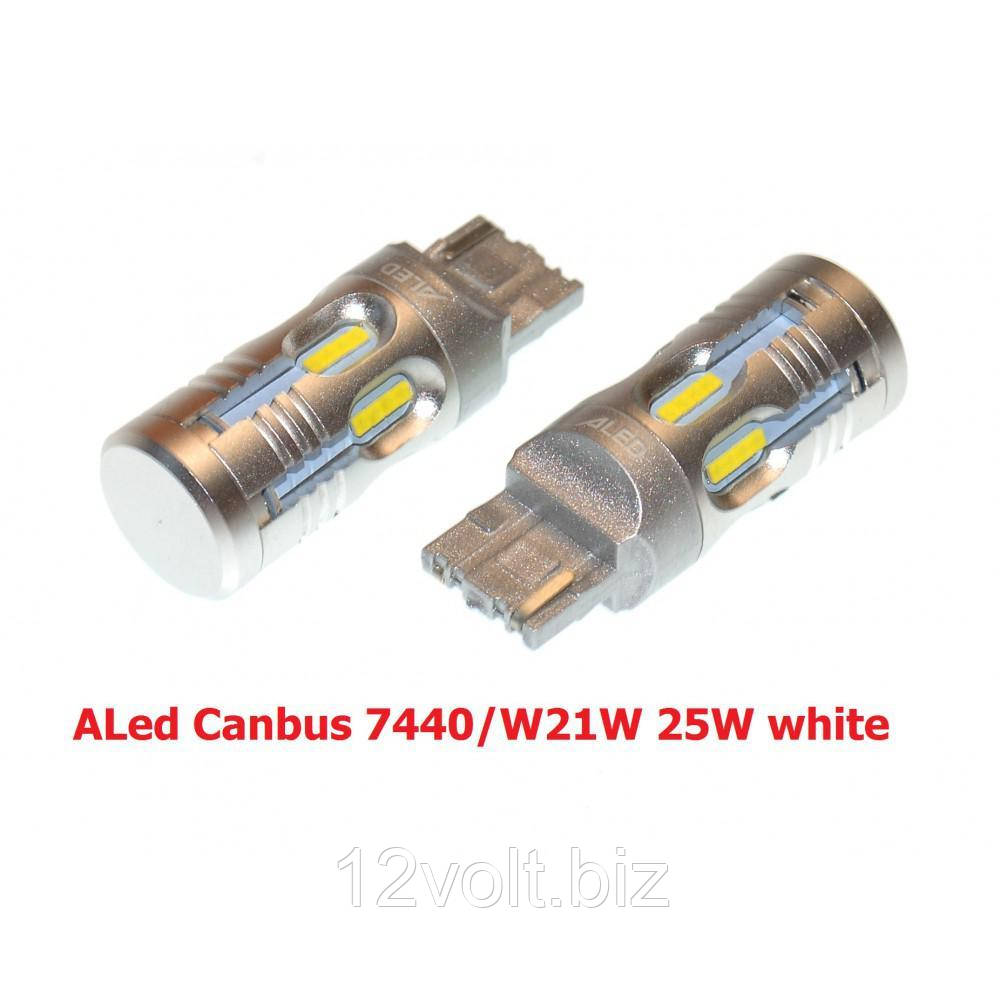Лампа заднего хода LED ALed Canbus 7440/W21W 25W white (2шт)