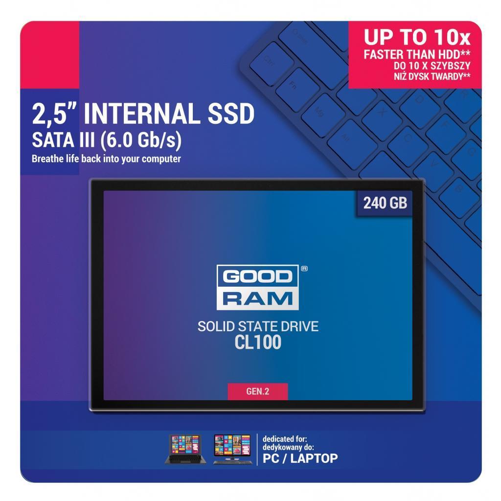 """240GB SSD GoodRam (SSDPR-CL100-240-G2) SATA III, 2.5"""""""