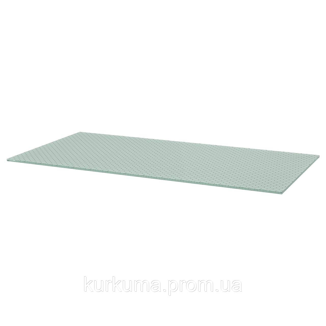 IKEA GLASHOLM Столешница, стекло, сотовый узор, 148x73 см (303.537.45)