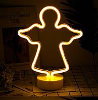Освещение для детской комнаты LED Интерьерный неоновый ночник Ангелочек, фото 1