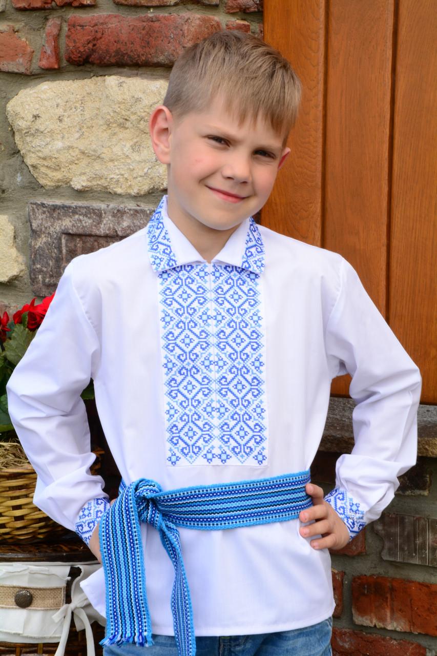 Сорочка вишиванка для хлопчика на кнопках