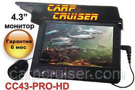 Carp Cruiser СC43-PRO-HD яркость экрана 250кд/мподводная видео камера высокая 0,01Lux чувствительность камеры