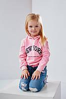 Детский свитшот Лакела 4465 на девочку 4-7 лет 110 светло розовый