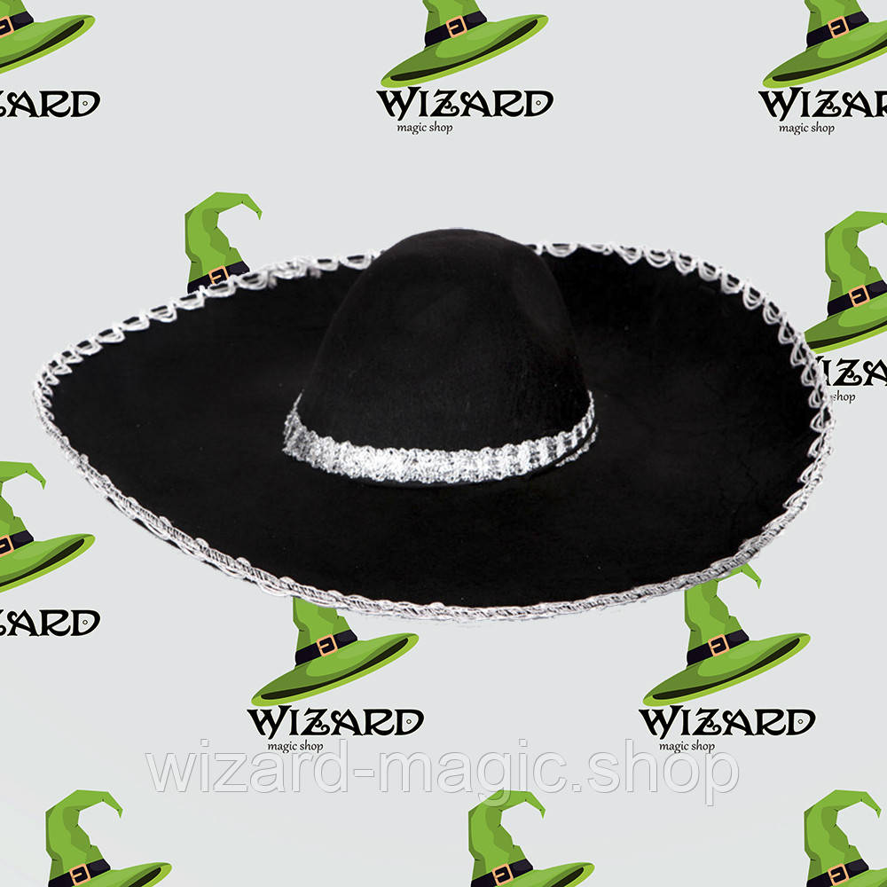Шляпа Сомбреро Мариачи черная