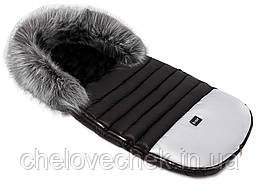 Зимний конверт Bair Polar premium (черный - серебро кожа)