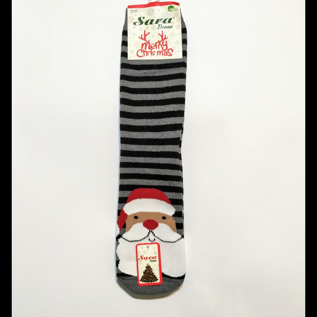 Носки махровые высокие с дед морозом 36-41 размер