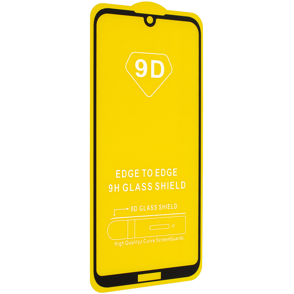 Скло 9D Honor 8s - чорна рамка