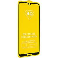 Стекло 9D Honor 8s - черная рамка