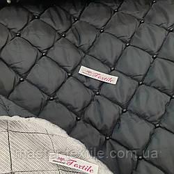 ПЛАЩЕВКА СТЕГАНАЯ СИНТЕПОНОМ (черная с черным жемчугом)