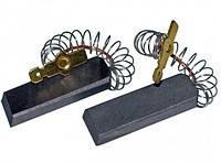 Щетка угольная 5*12,5*35 клееная провод по центру с пружинкой для стиральной машины