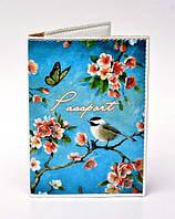 Обложка на паспорт Bird & Flowers