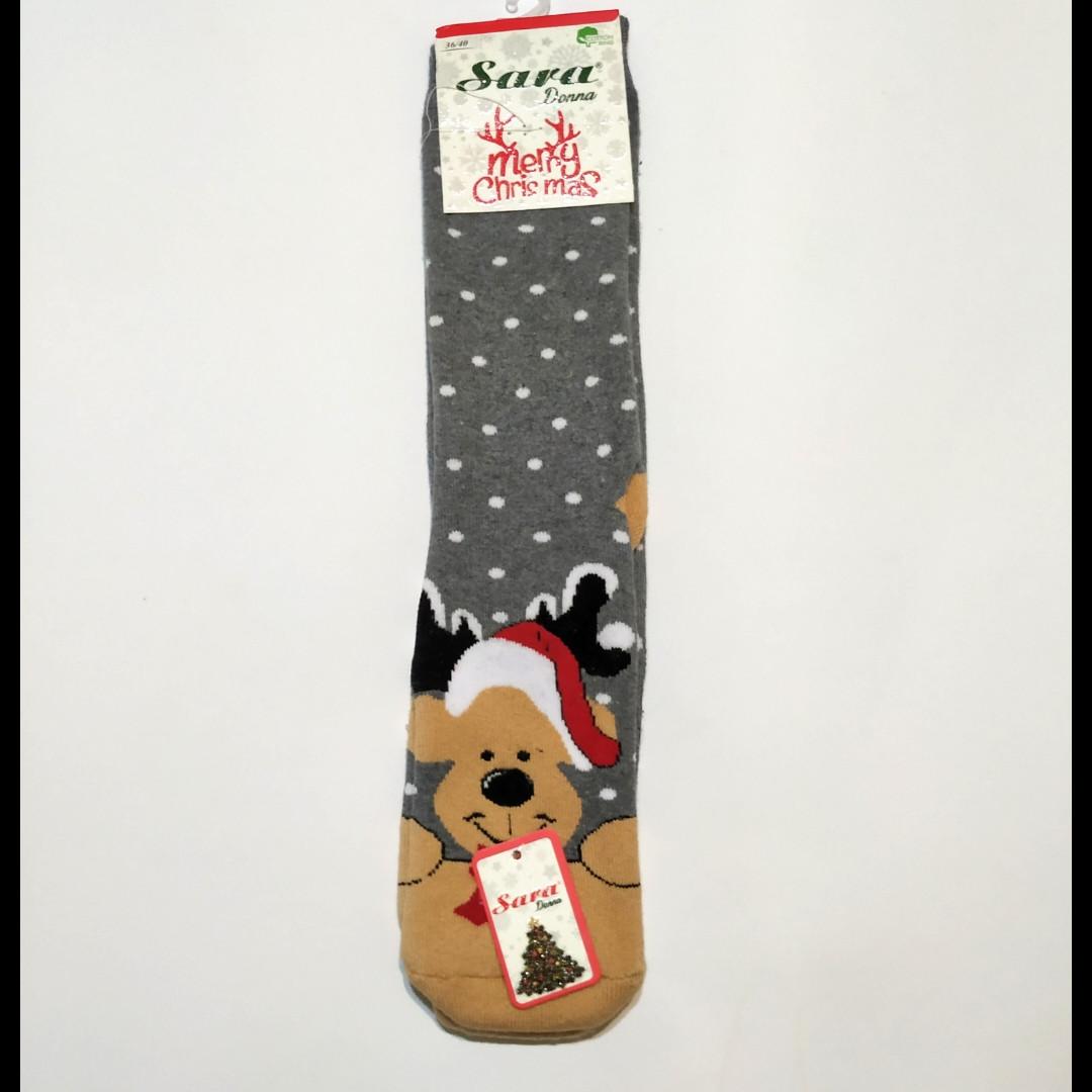 Носки махровые высокие с мишкой 36-41 размер