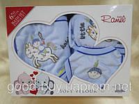 Банный набор Ramel Kids с вышивкой голубой  Турция