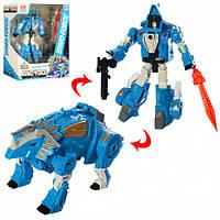 Игрушка детская робот трансформер Динозавр H8012-1 TF голубой