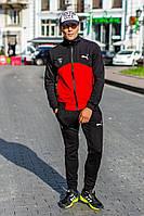 Мужской красный спортивный костюм PM