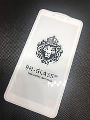 Xiaomi Redmi 6A защитное 3D 5D 9D стекло Full Glue (белая окантовка) полное покрытие полный клей