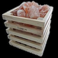 Корзинка Кубик Greus с гималайской солью 4,5 кг для бани и сауны, корзина, Украина, корзинка