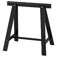 IKEA ODDVALD Ножки для стола, черная, 70x70 см (101.189.71), фото 1