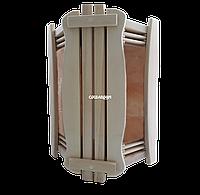 Ограждение светильника угловое GREUS с гималайской солью 2 плитки для бани и сауны, ограждение, Украина