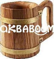 Кружка 0,5 л дубовая для бани и сауны, Украина