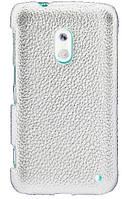 Кожаный чехол-накладка для телефона Melkco Snap leather cover for Nokia Lumia 620, white (NKLU62LOLT1WELC)