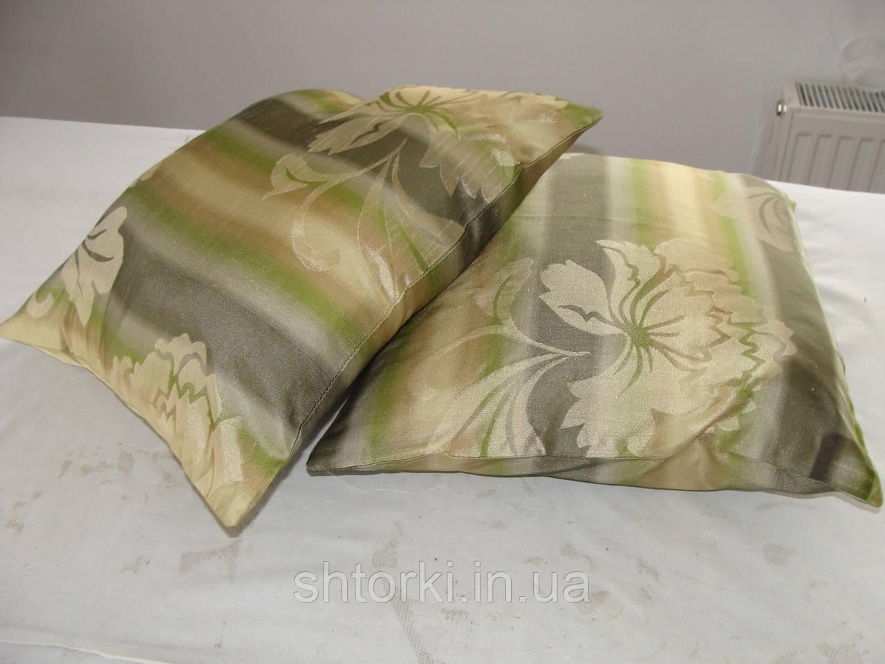 Комплект подушек  С цветами беж , 2 шт 35х35