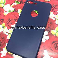 Iphone 7 Plus чехол цветной силиконовый матовый синий