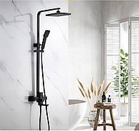 Черная душевая колонна со смесителем для ванны SANTEP 208 GG