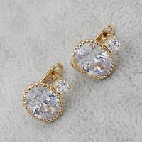 Серьги классические позолота Xuping Jewelry: xpe1g-10