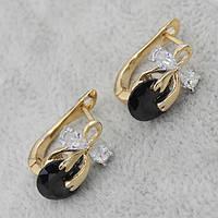Серьги классические позолота Xuping Jewelry: xpe1g-12