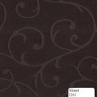 Рулонные шторы Одесса Ткань Акант (Вальс) Тёмно-коричневый 2261