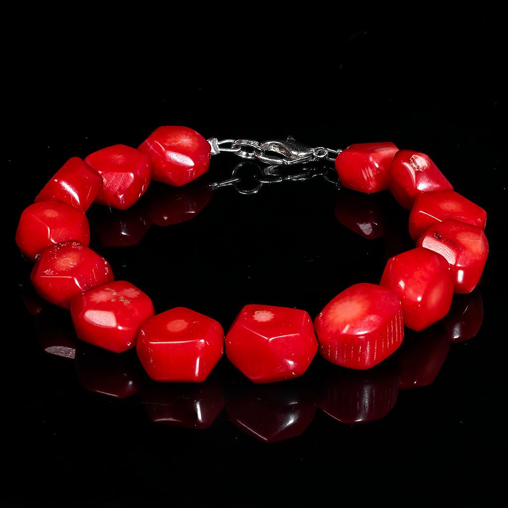 Браслет з червоного коралу, 652БРК