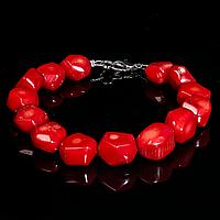 Браслет з червоного коралу, 652БРК, фото 1