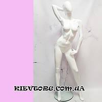 Манекен женский белый лакированный в полный рост для магазина LUX (+ Видео)