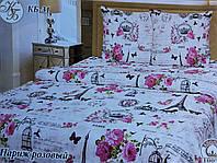 Комплект постельного белья Тиротекс Жатка Париж розовый Полуторный 144х205