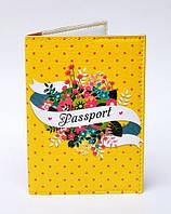Обложка на паспорт Букет