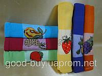 Яркий набор кухонных полотенец с фруктами  Mercan Rose хлопок 6шт: 50х70   Турция