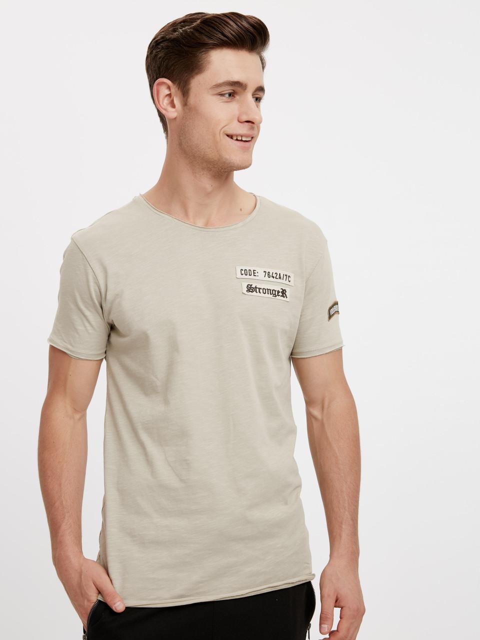 Бежевая мужская футболка LC Waikiki / ЛС Вайкики Stronger
