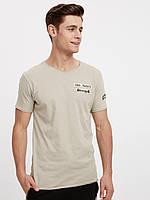 Бежевая мужская футболка LC Waikiki / ЛС Вайкики Stronger, фото 1
