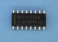Транзисторы Дарлингтона 7-каналов NPN 50В 500мА TI ULQ2004ADR SOP16