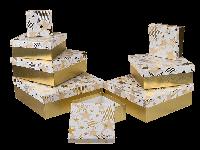 """Коробка подарочная золото """"Звезда"""", 18см"""