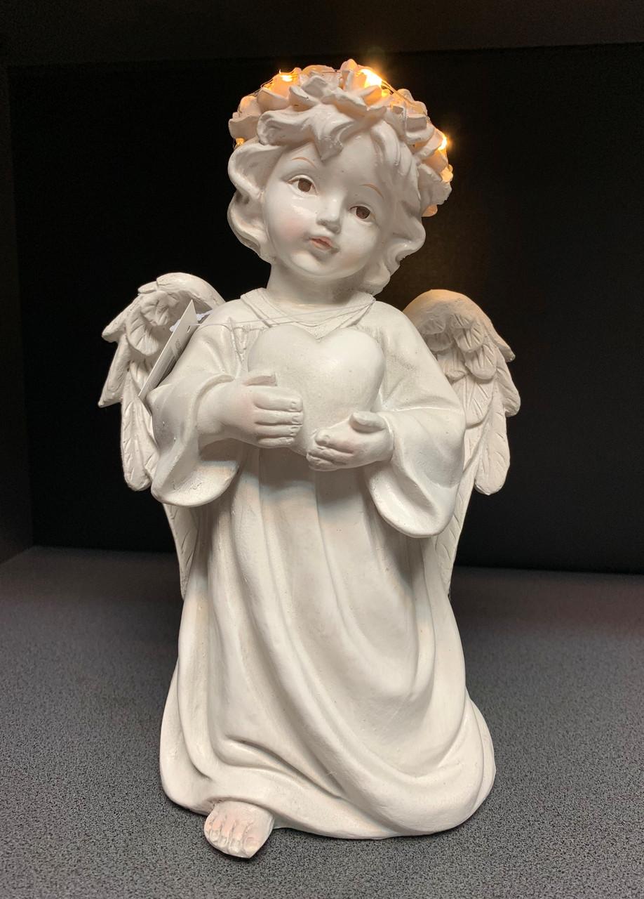 Статуэтка Ангел светящийся с сердцем
