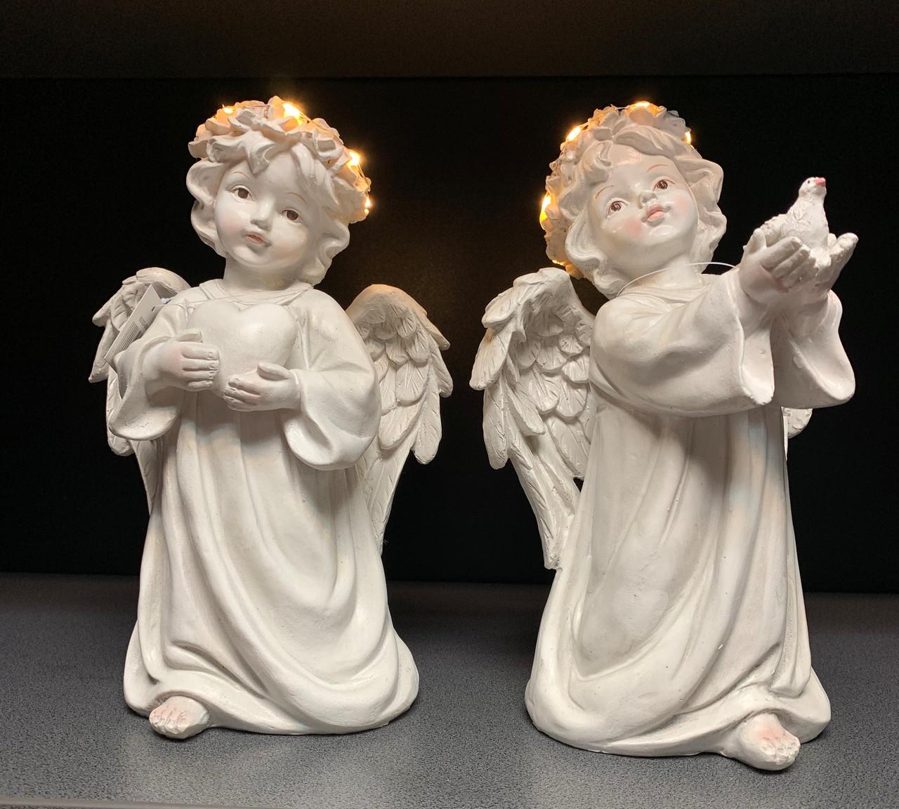 Статуэтки Ангелы светящиеся, набор из 2 шт