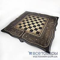 Нарды, шахматы, шашки ручной работы ГЕРБ (60х60 см.), фото 1