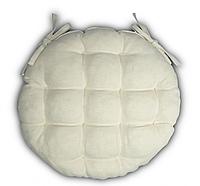 Подушка на стул Кедр на Ливане круглая стеганная серия I 36x36x5 см Натуральная (1044)