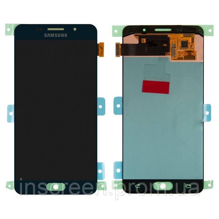 Экран (дисплей) Samsung A510F Galaxy A5 2016 черный (GH97-18250B) Оригинал
