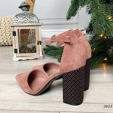 Туфли на толстом каблуке с застежкой, фото 2
