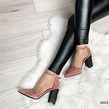Туфли на толстом каблуке с застежкой, фото 3