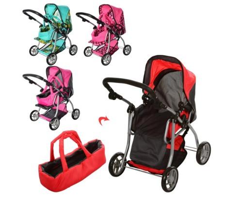 Детская коляска для девочки и куклы