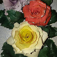 """Картина панно из холодного фарфора """"Розы"""""""